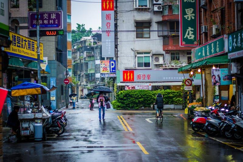 Lianyunstraat, in het Zhongzheng-District, Taipeh, Taiwan royalty-vrije stock afbeelding