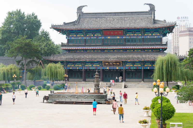 LIAONING, CHINA - Aug 03 2015: Guangyou Temple Scenic Area. a fa. Mous historic site in Liaoyang, Liaoning, China stock images
