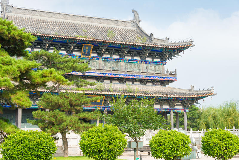 LIAONING, CHINA - Aug 03 2015: Guangyou Temple Scenic Area. a fa. Mous historic site in Liaoyang, Liaoning, China royalty free stock photos