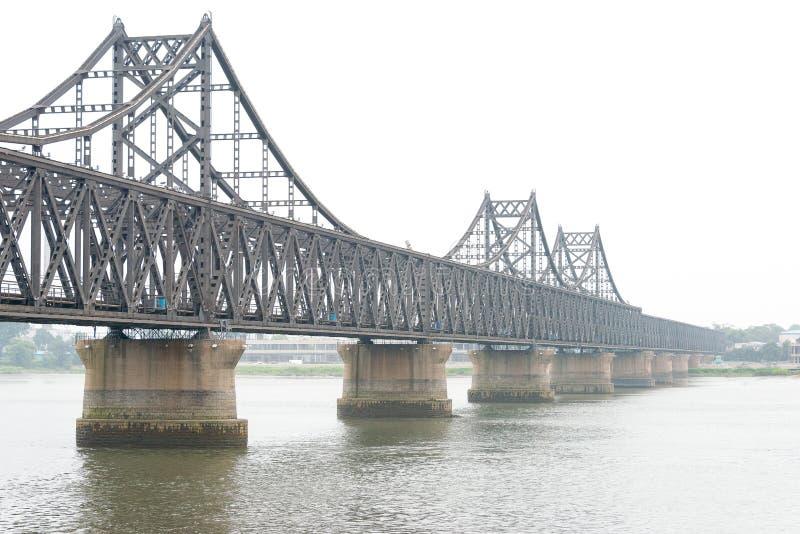 LIAONING, CHINA - Jul 28 2015: China-North Korea Friendship Bridge. a famous historic site in Dandong, Liaoning, China. royalty free stock images