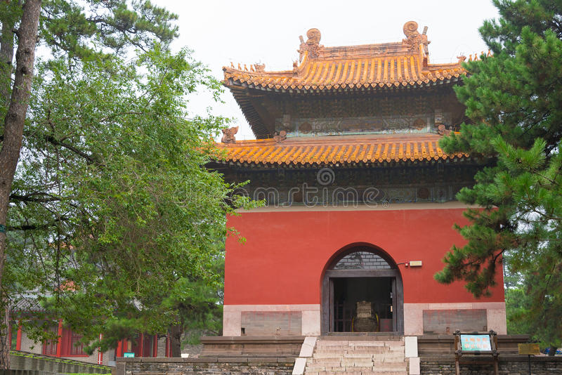 LIAONING, CHINA - Jul 31 2015: Fuling Tomb of the Qing Dynasty(UNESCO World Heritage site). a famous historic site in Shenyang, L. Iaoning, China stock photo