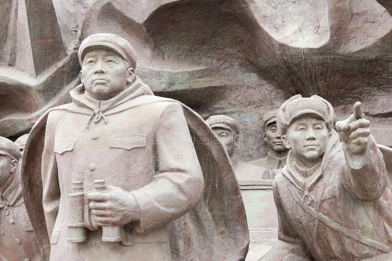LIAONING, CHINA - 28. Juli 2015: Die freiwillige Armee S der chinesischen Leute lizenzfreies stockbild