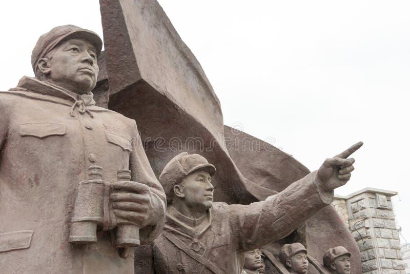 LIAONING, CHINE - 28 juillet 2015 : L'armée volontaire S de personnes chinoises images libres de droits