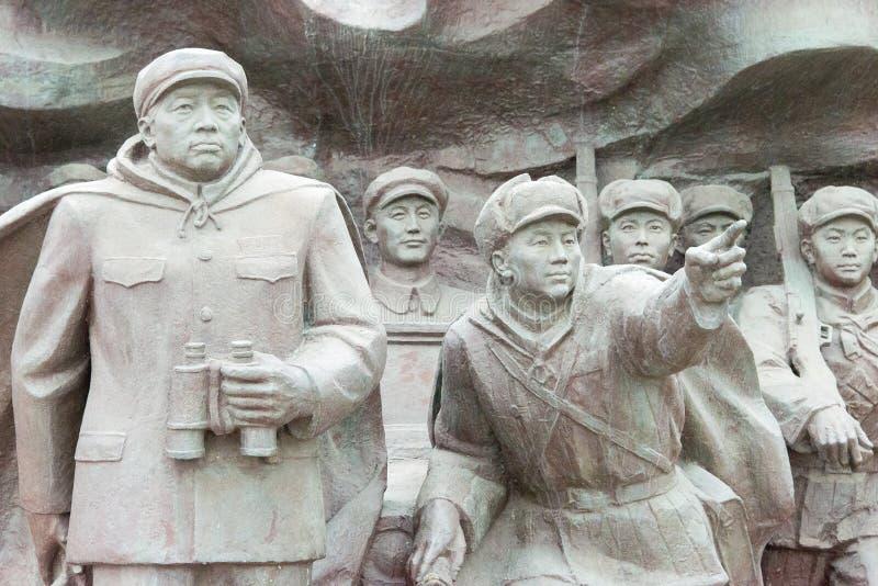 LIAONING, CHINE - 28 juillet 2015 : L'armée volontaire S de personnes chinoises photos stock