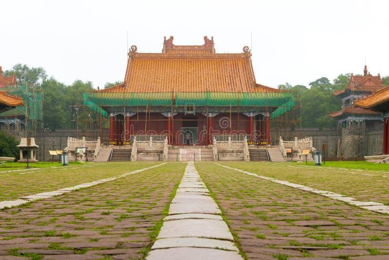 LIAONING, CHINE - 31 juillet 2015 : Tombe de Fuling de Qing Dynasty (U images stock