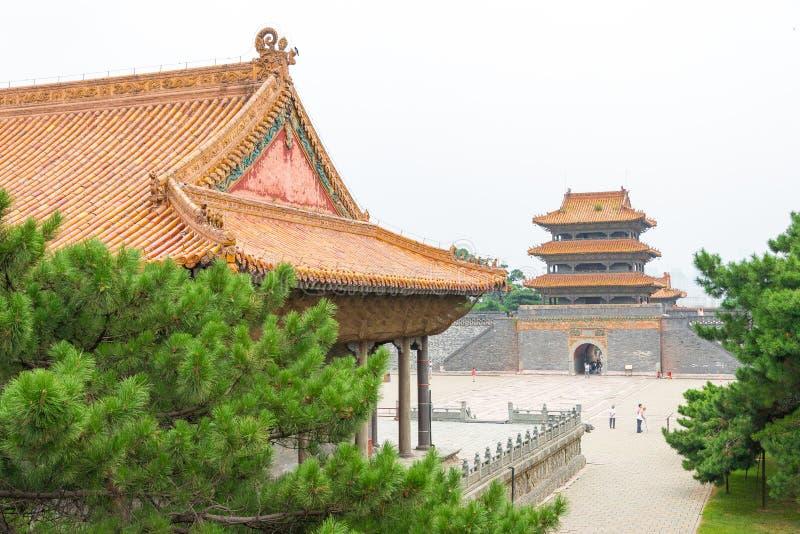LIAONING, CHINE - 31 juillet 2015 : Tombe de Zhaoling de Qing Dynasty photos libres de droits