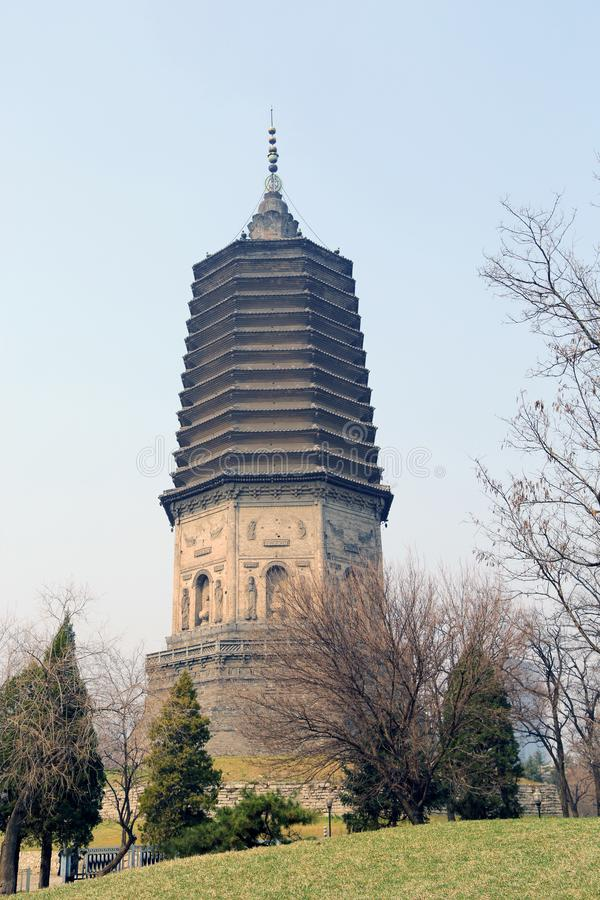Liaoyang city, liaoning province, China`s ancient tower building. Liaoyang city, liaoning province white tower is one of the 76 old pagoda in China stock images