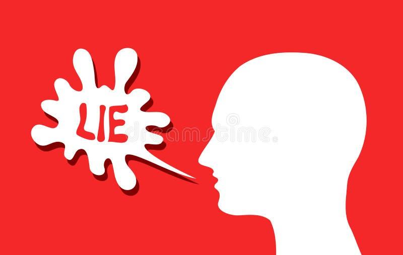 Liar is talking lie vector illustration