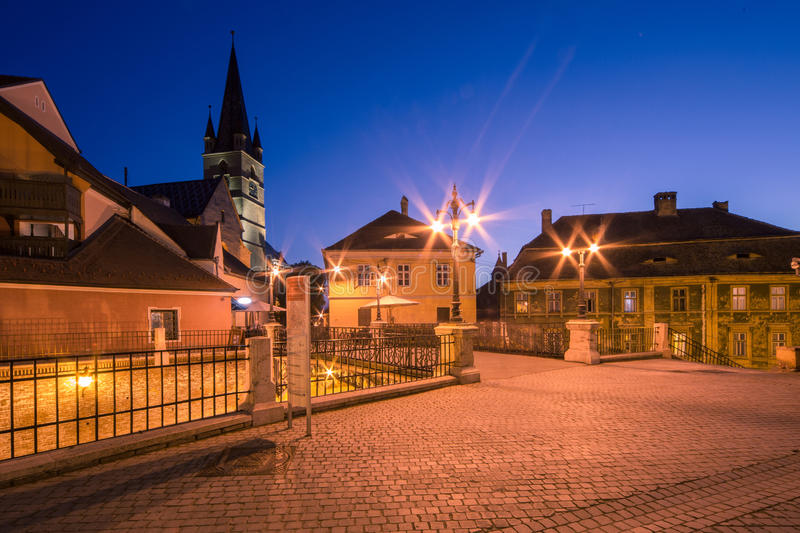 Liars' Bridge in Sibiu stock image