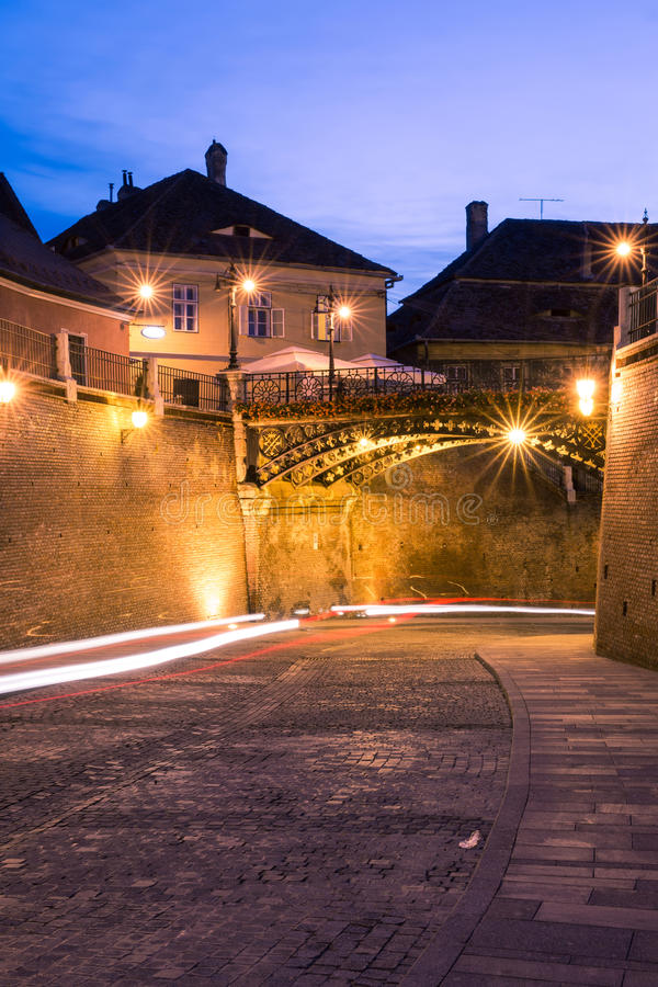 Liars' Bridge in Sibiu stock images