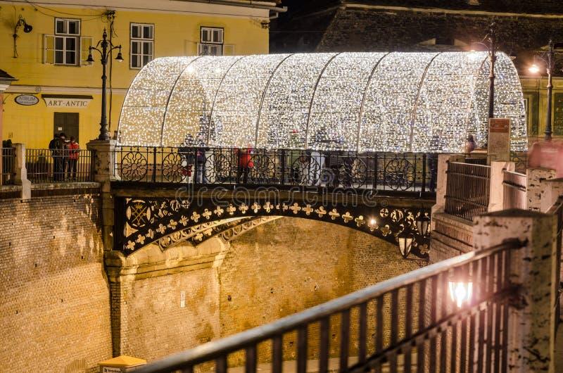 Liars bridge, Sibiu, Romania stock photography
