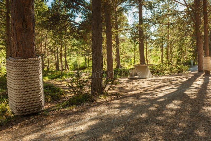 Liasandenparkeerplaats Noorse route Sognefjellet stock fotografie