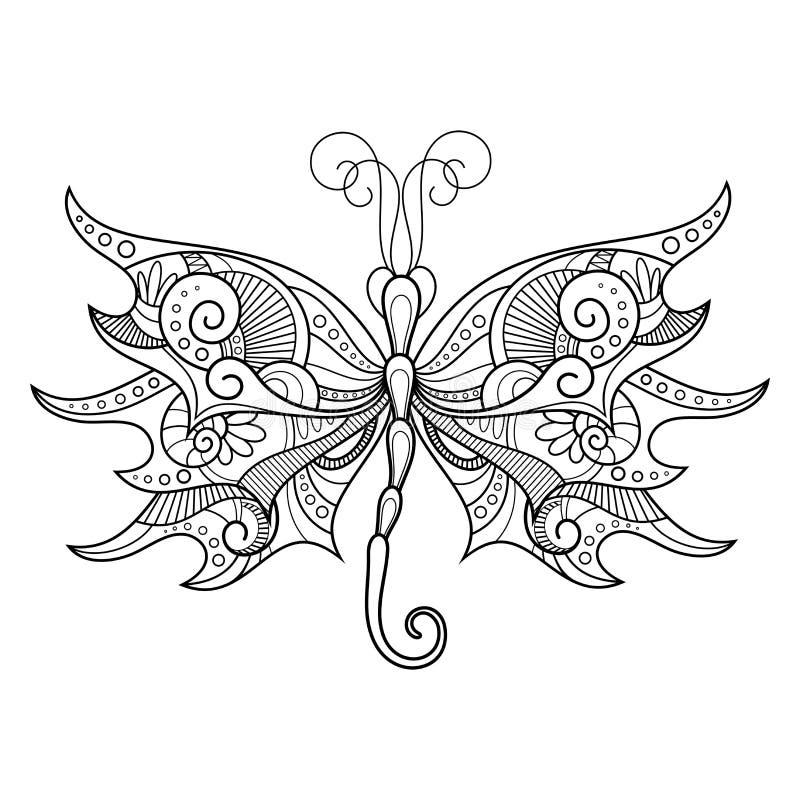 Libélula abstracta del vector en el fondo blanco ilustración del vector