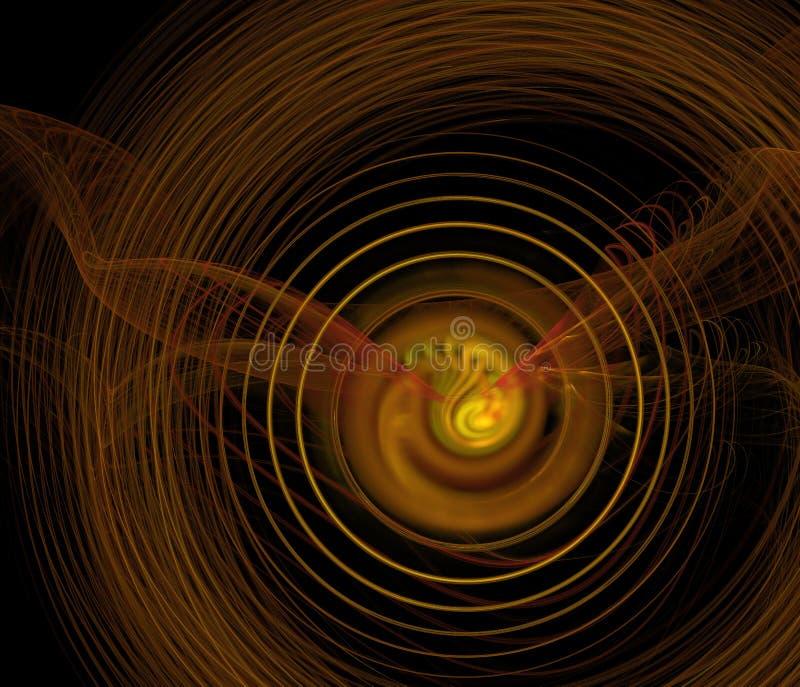 Libélula de Ghost, fundo abstrato do fractal ilustração royalty free