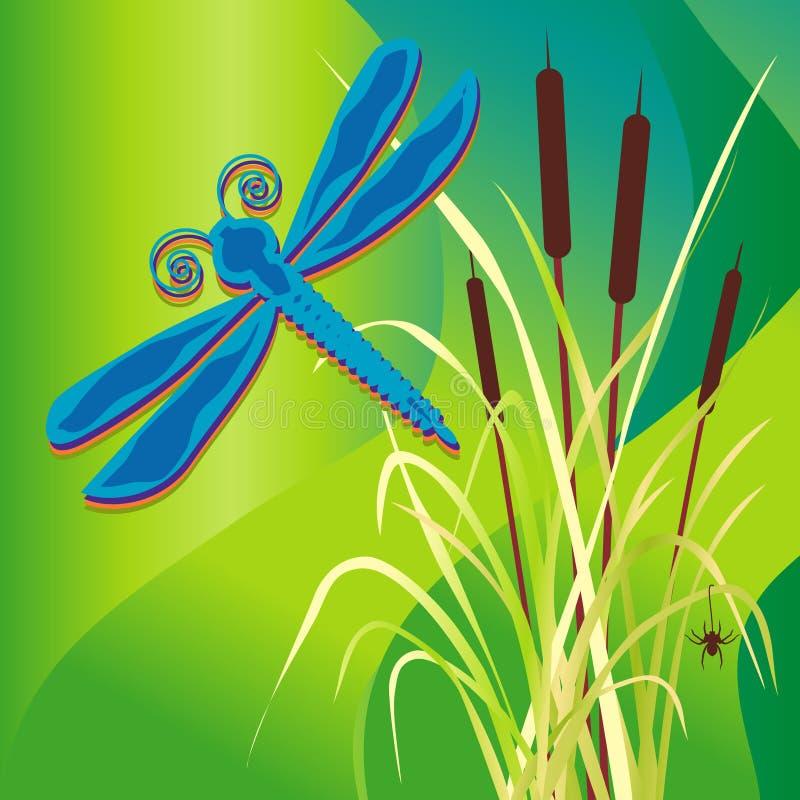 Libélula del pantano ilustración del vector