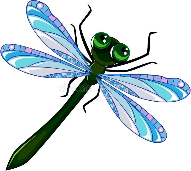 Libélula verde ilustración del vector