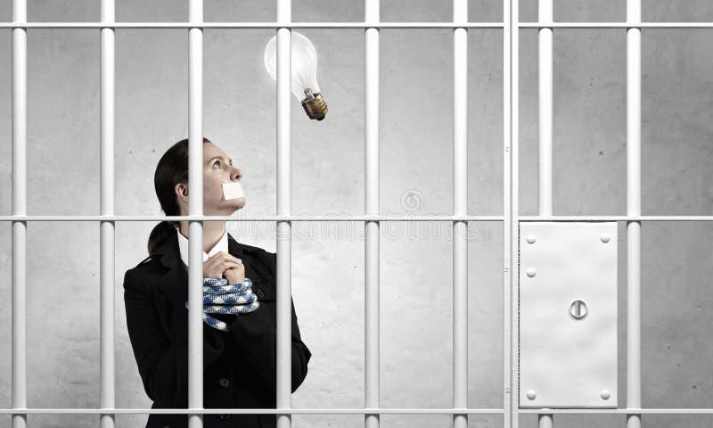 Libération d'innocent accusé Media mélangé images stock