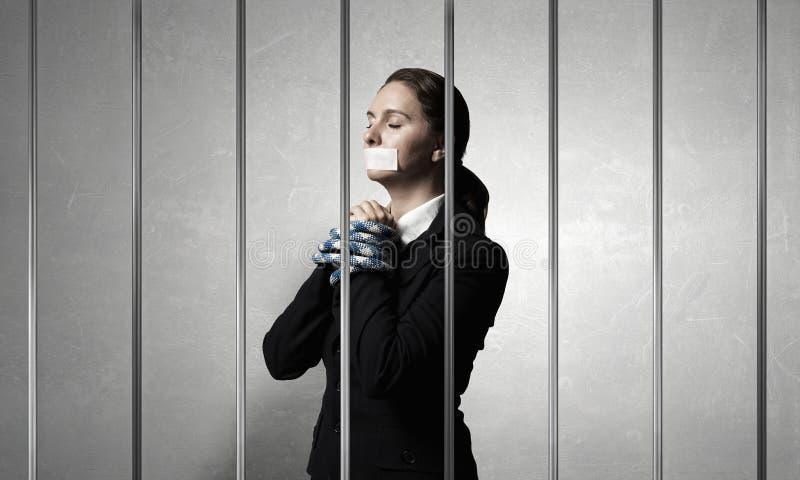 Libération d'innocent accusé Media mélangé images libres de droits