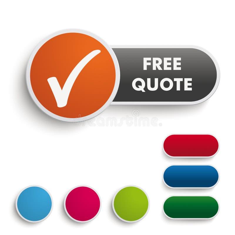 Libérez l'orange PiAd de noir de bouton de citation illustration stock