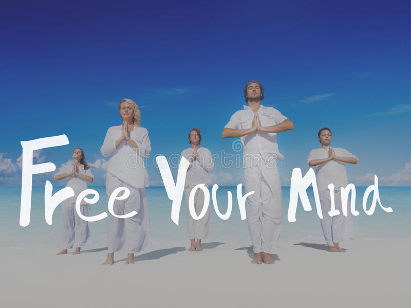 Libérez votre concept positif de froid de relaxation d'esprit image libre de droits