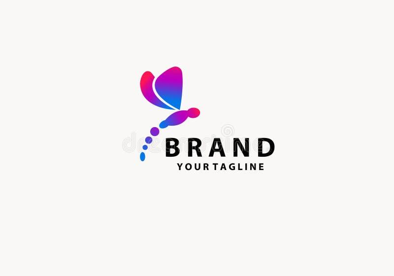 Lib?lula con el color abstracto Logo Symbol libre illustration