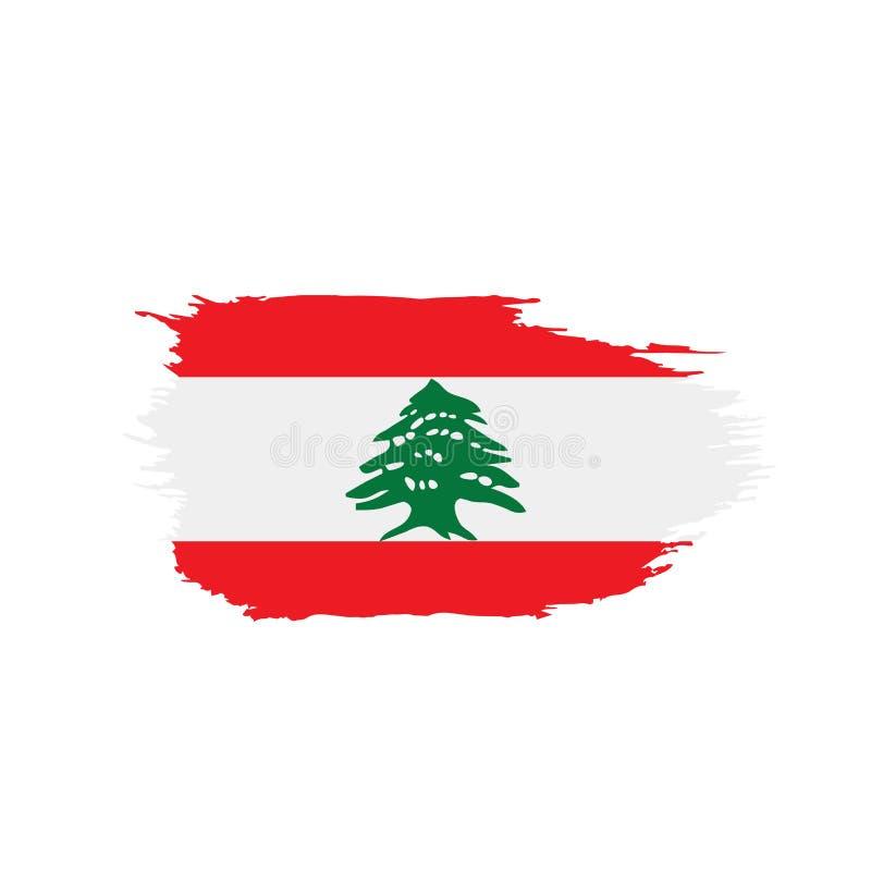 Libańczyk flaga, ilustracja ilustracja wektor