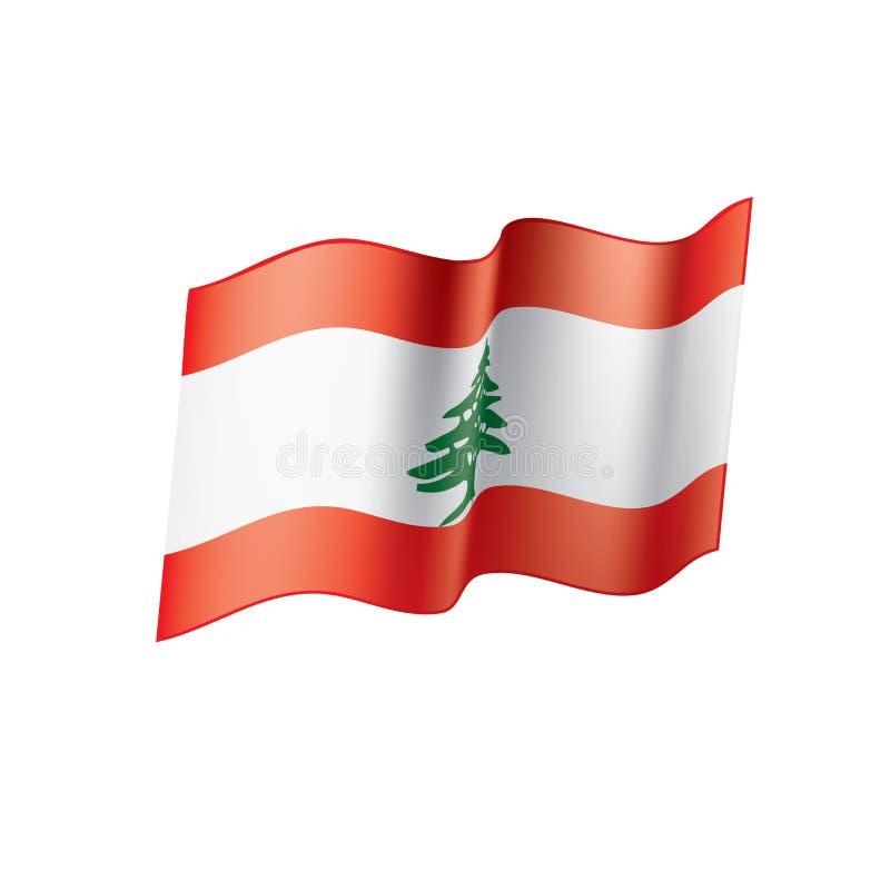 Libańczyk flaga, ilustracja royalty ilustracja