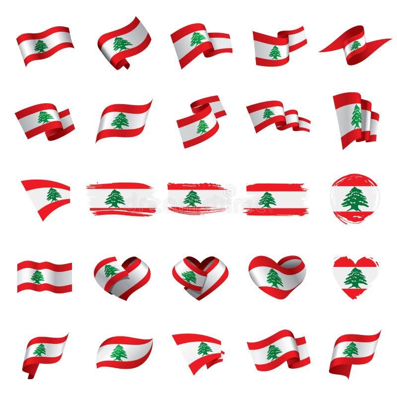 Libańczyk flaga, wektorowa ilustracja royalty ilustracja