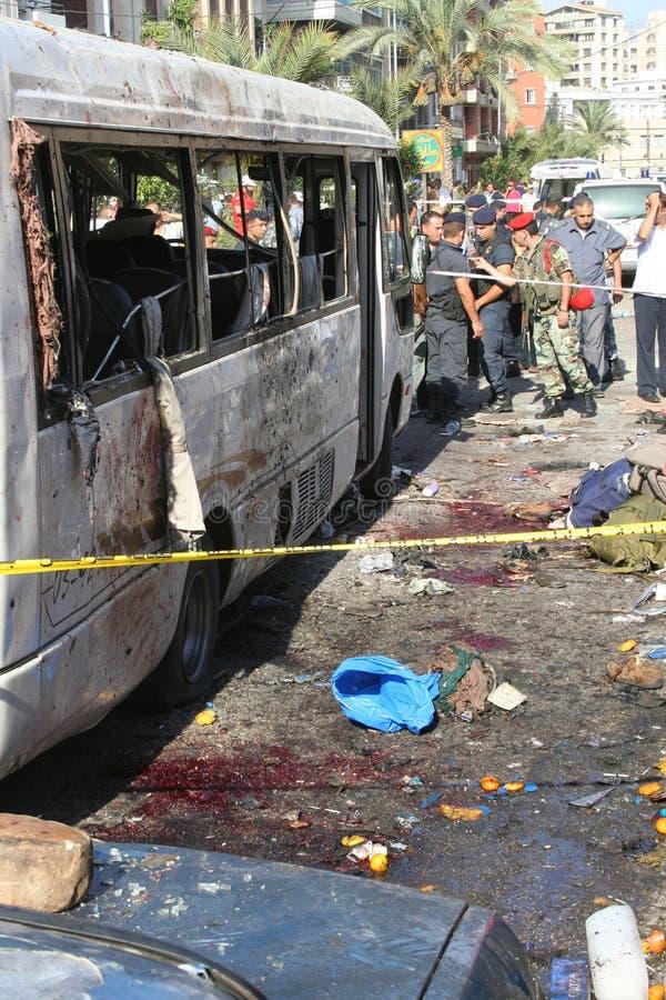 Libański wybuch bombowy fotografia royalty free