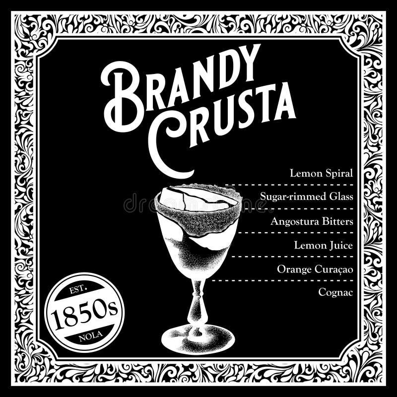 Libagioni storiche della raccolta degli ingredienti del cocktail di New Orleans royalty illustrazione gratis