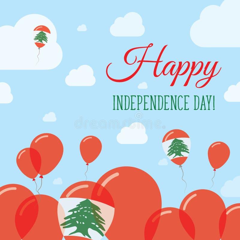 Liban dnia niepodległości Płaski Patriotyczny projekt ilustracja wektor