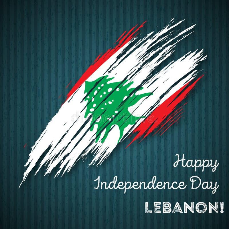 Liban dnia niepodległości Patriotyczny projekt ilustracji