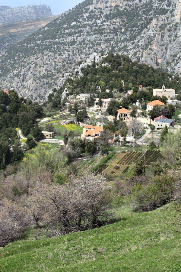 Liban górska wioska fotografia stock