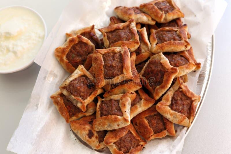 Liban kuchnia: Sfeeha zdjęcia royalty free