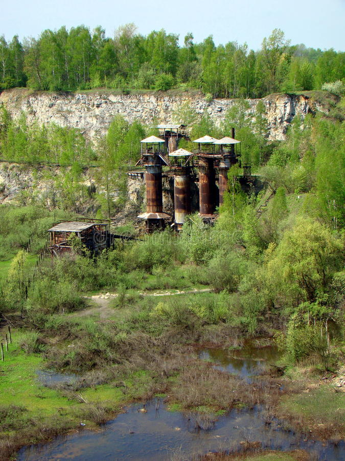 Liban Quarry - former WWII German Nazi Labour Camp stock images