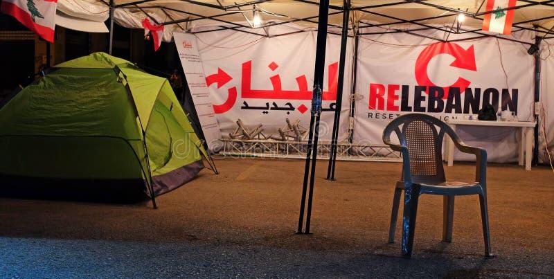 Liban Renaissance 2019 la nuit images libres de droits
