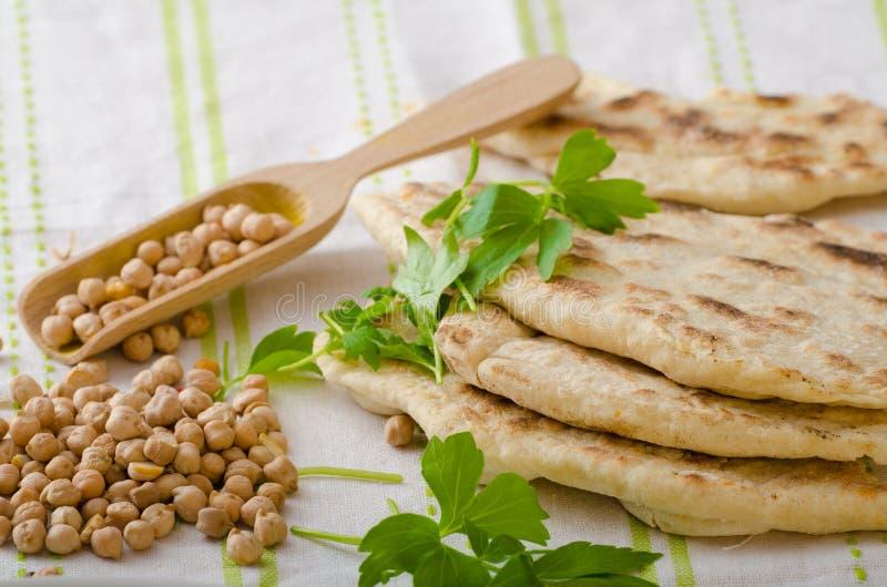 Libanees brood, pitabroodje stock afbeelding