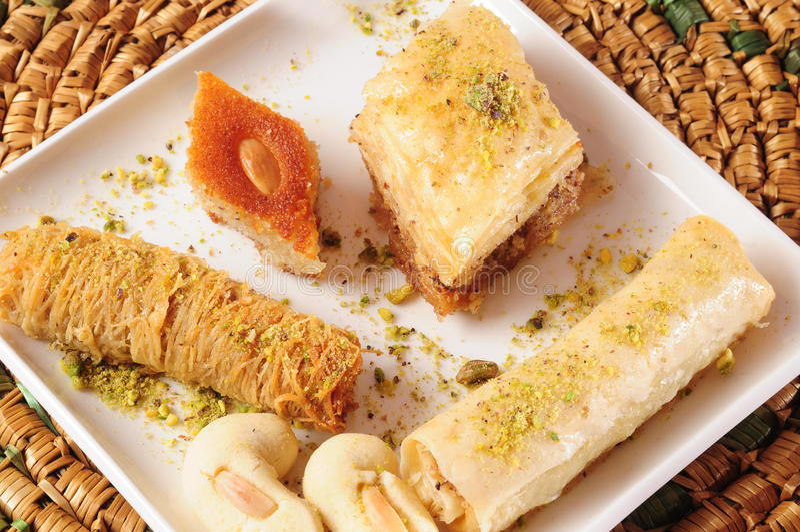 Libanese snoepjes. royalty-vrije stock afbeeldingen
