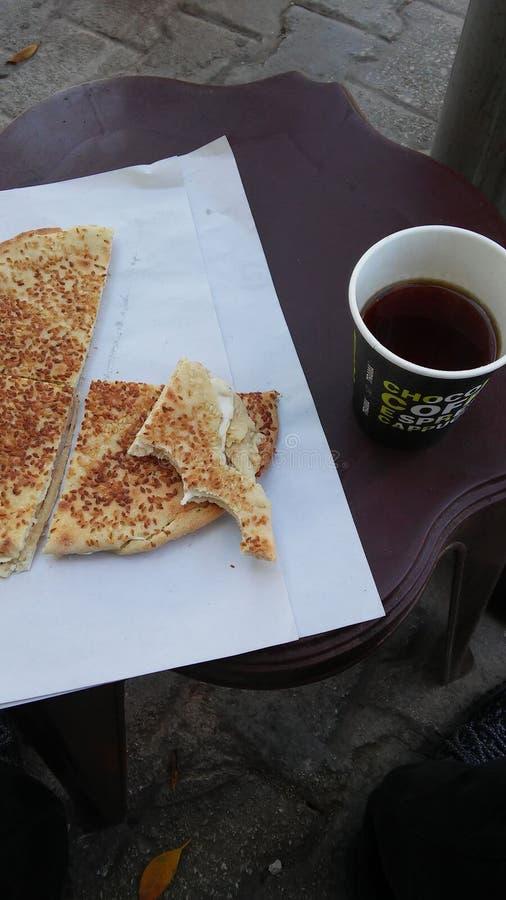 Libanesisk frukostrutin arkivbild