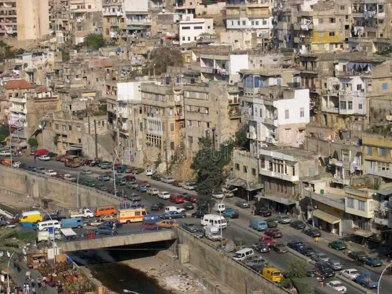 libanesisk towntripoli sikt royaltyfri fotografi