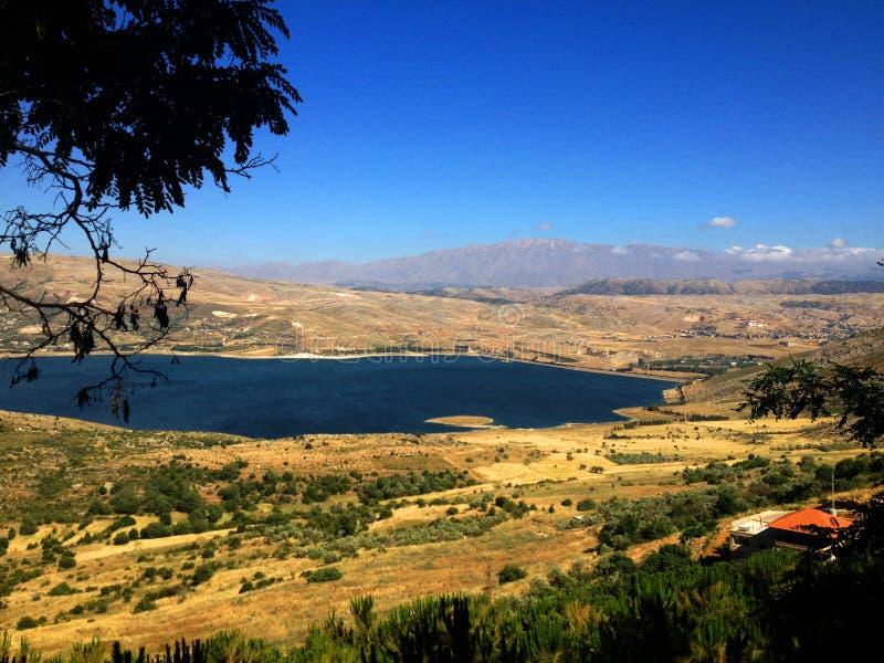 Libanesiskt landskap, Bekaa Valley Beqaa (Bekaa) dal, Baalbeck, Libanon arkivfoto