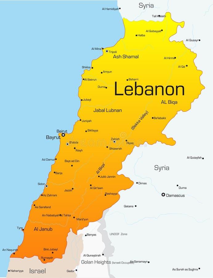 Libanon royaltyfri illustrationer