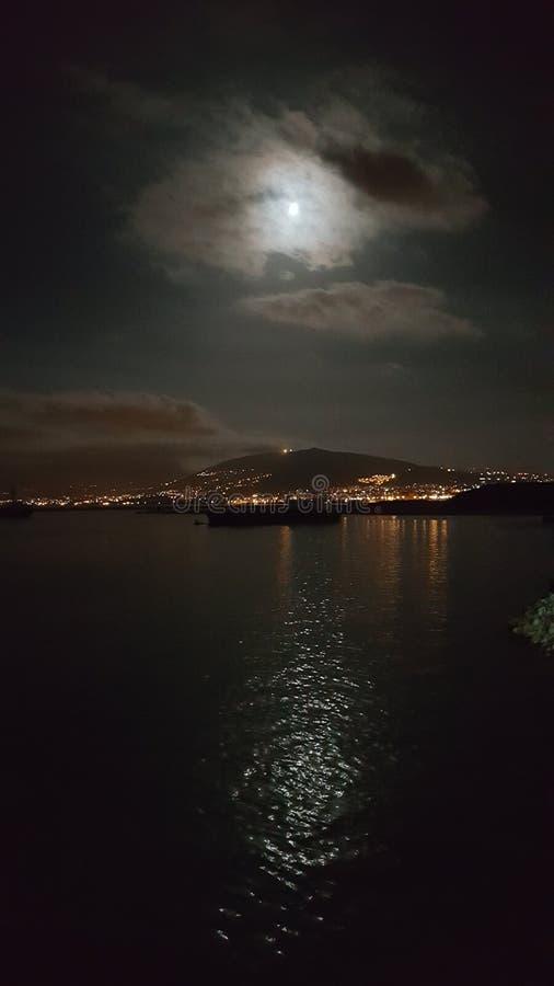 Libanon på natten fotografering för bildbyråer