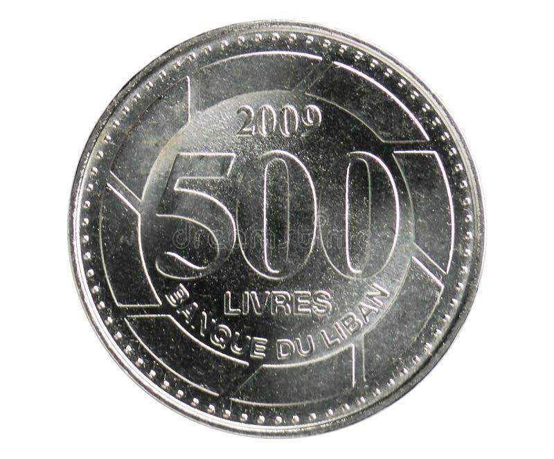 500 libbre di Livres coniano, 1995~Today - Repubblica - terza serie, la Banca del Libano fotografie stock