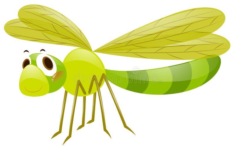 Libelle In Der Grünen Farbe Stock Abbildung - Illustration von ...