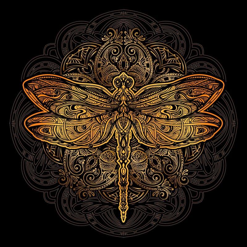 Libellenvektortätowierung vektor abbildung