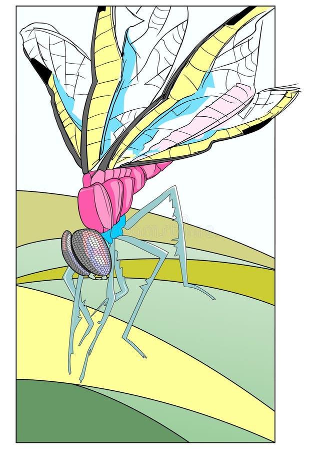 Download Libellule 2 illustration de vecteur. Illustration du rhinestones - 8667020