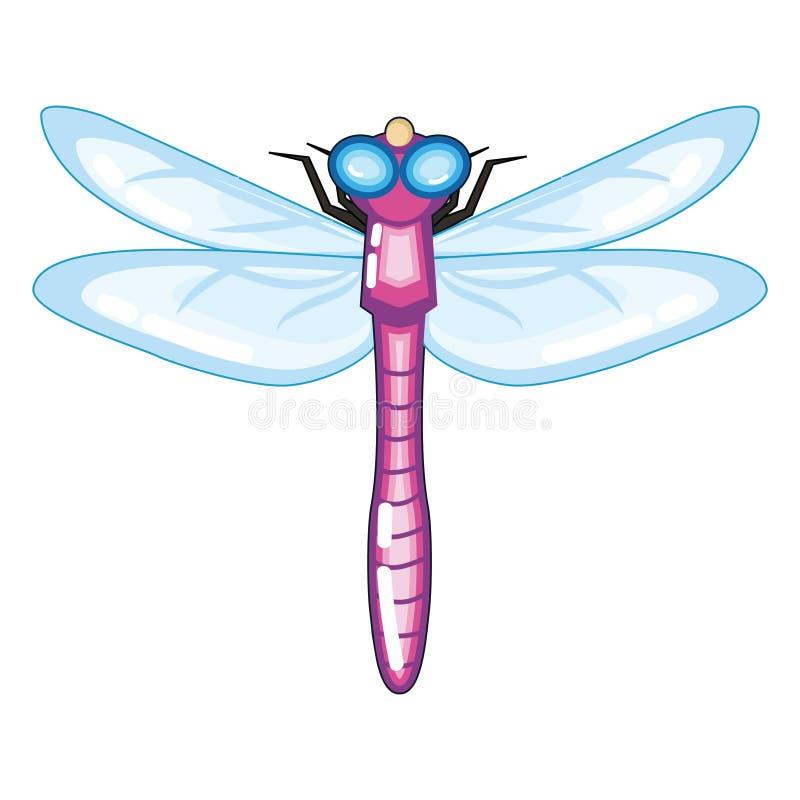 Libellule pourpre mignonne avec Blue Wings illustration libre de droits
