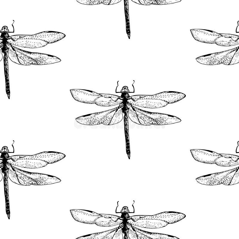 Libelpatroon vector illustratie