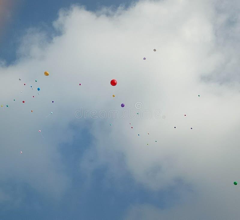 Liberação do Ballon imagem de stock
